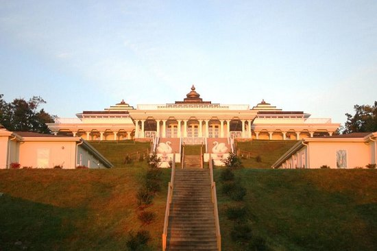 Art of Living Retreat Center: The Main Hall at Sunrise