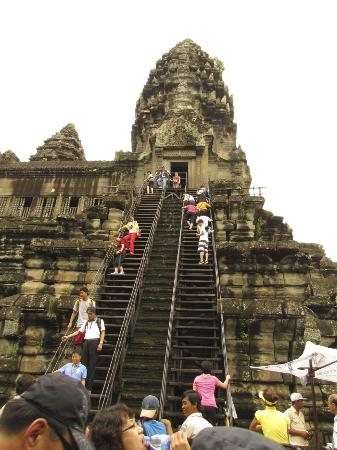 Angkor Wat: Up you go, but be cafeful