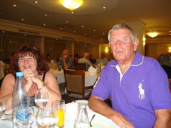 Aquamare Beach Hotel & Spa: David and Jane at dinner