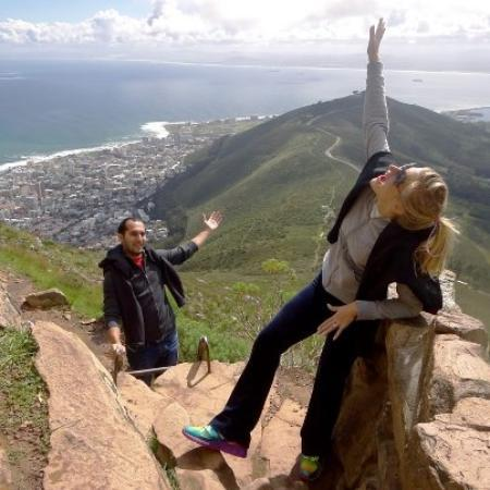 The Cape Town Tour Guide Co.: My husband and I on top of Lion's Head :D