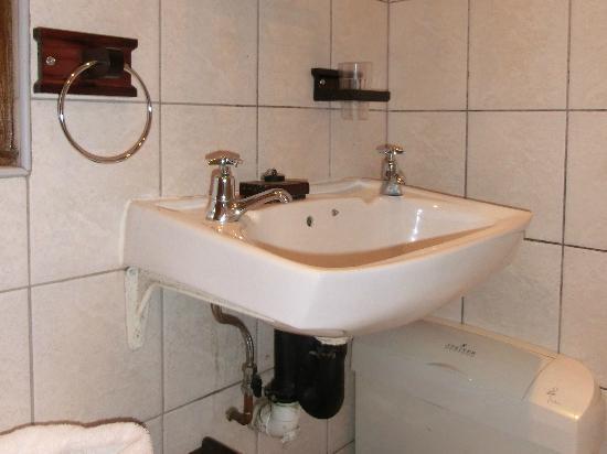HoneyPot B&B: schmutziges Waschbecken im stinkenden Bad