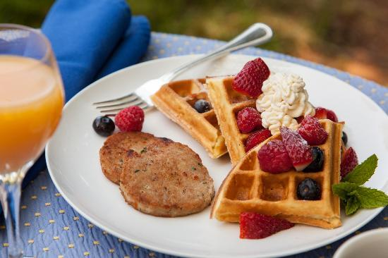 L'Auberge Provencale Bed and Breakfast: A Breakfast of Orange Blossom Waffles