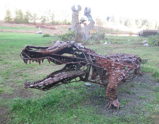 San Juan Islands Sculpture Park: Caiman sculpture