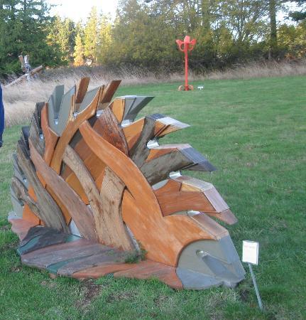 Isla de San Juan, WA: Wooden sculpture