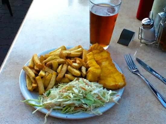 Horseshoe Bay Motel: Best Fish&Chips I've Ever Had!