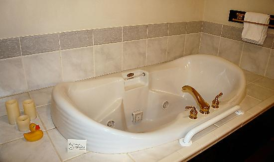 Foxfield Inn: Large jacuzzi in Audubon room