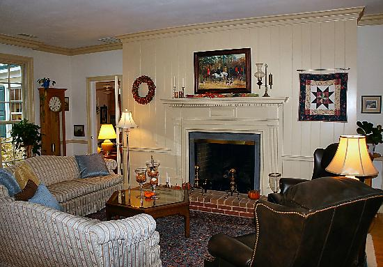 Foxfield Inn: Cozy living area w/ many books choose from