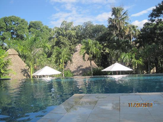The Lodge at Chaa Creek: salt water infinity pool