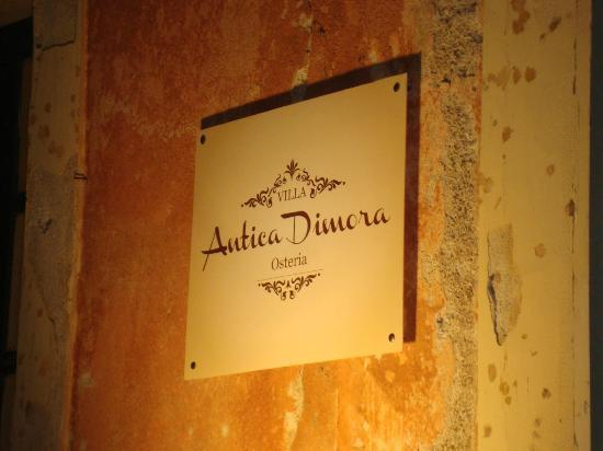Villa Antica Dimora da Franco Smile: targa  insegna