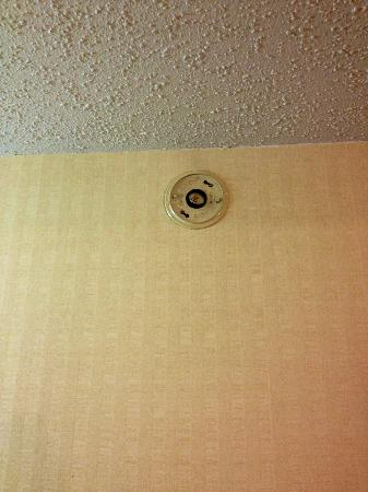 Ramada Limited Calgary Northwest: No smoke alarm. It was sitting on the desk