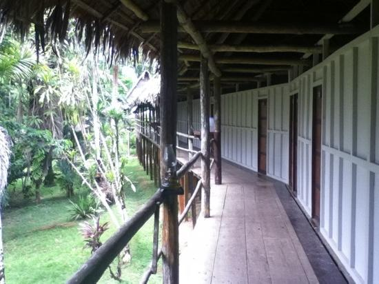 Amazon Explorama Lodges: outside the bedrooms