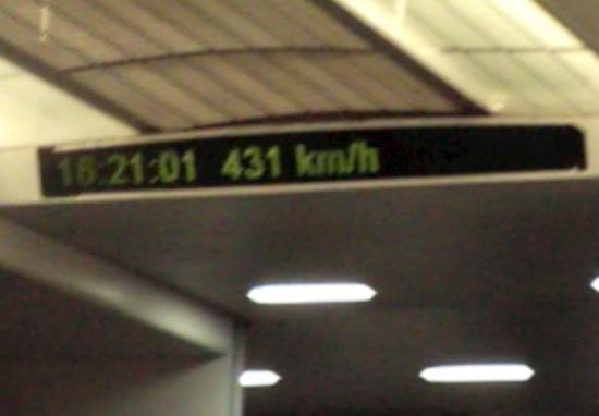 Shanghai, China: Maglev's Speedometer