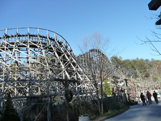 Wooden roller coaster - Picture of Dollywood, Pigeon Forge
