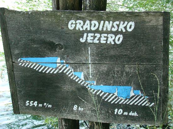 Gradinsko Lake: Tablica