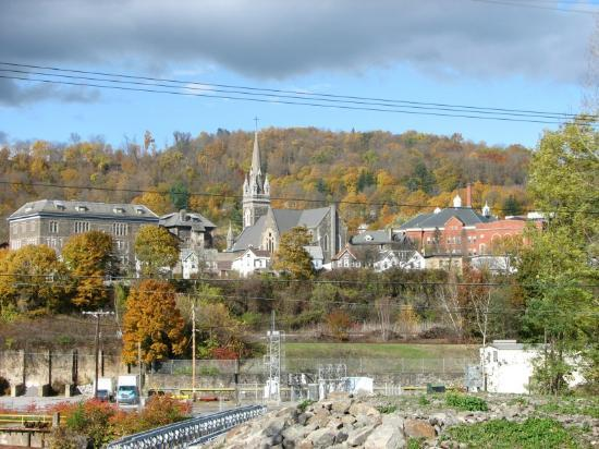 Erie Canal Cruises: Scenic View passing a town