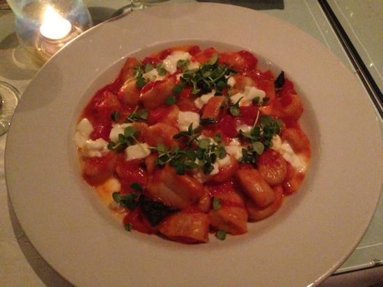 La Vecchia Cucina : Gnocchi with fresh mozz, truffle oil, and micro basil... YUM