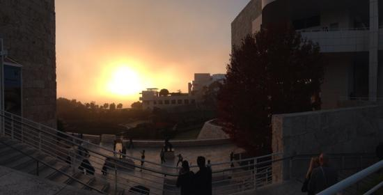 The Getty Center: The LA smog does make for beautiful sunsets!