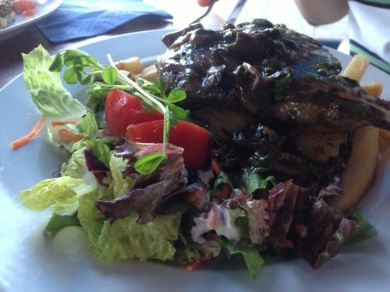 Fins Cafe: ribeye steak