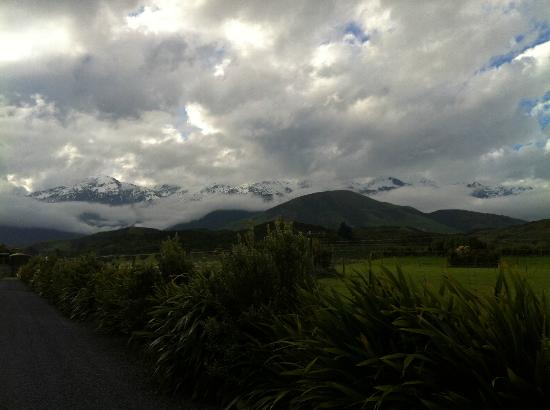 Hapuku Lodge: Amazing views of the Southern Alps