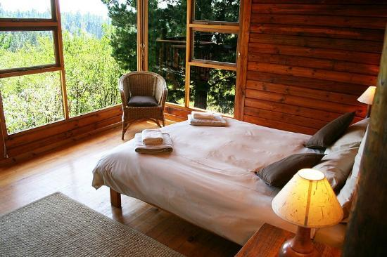 Phantom River View Cabins: Lulama - Main bedroom with view