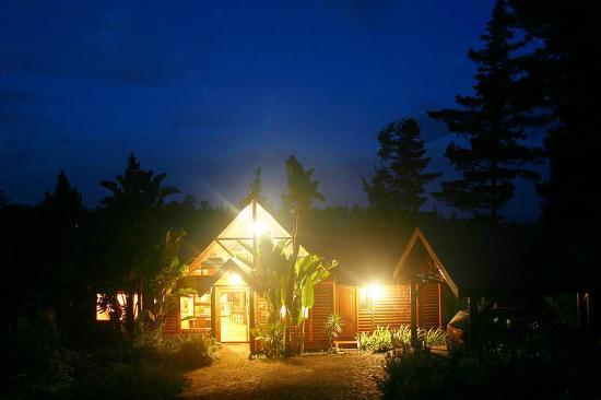 Phantom River View Cabins: Lulama - Exterior at night