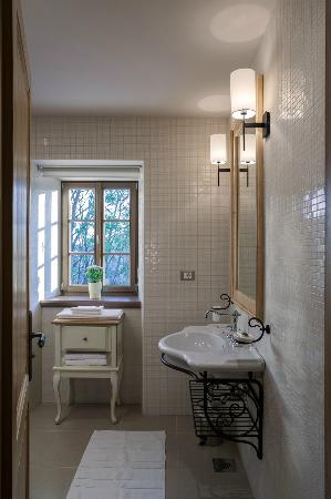 Mansion Dvor Tacen: Bathroom with the river view