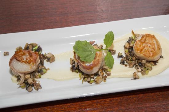 Steeds Club Grill & Bar: Entree: scallops in prosciuto