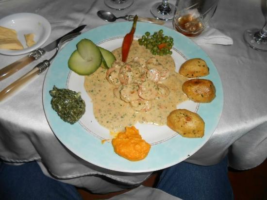 La Souvenance : shrimp sauce whisky