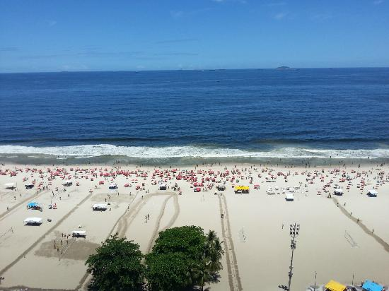 Copacabana Beach: View of Copacabana from Porto Bay Internacional Hotel