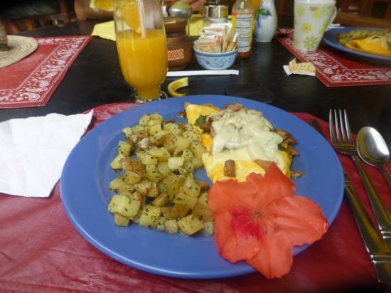 Punta del Encuentra: Tasty Huge Omelet