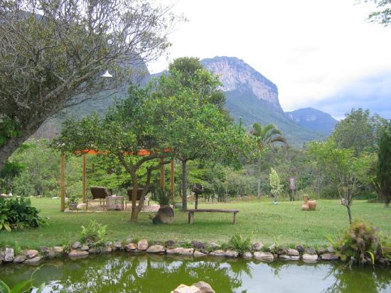 Pousada do Capao: Vista do vale a partir da frente do restaurante