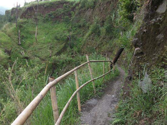 Merapi Volcano: way to the bottom of the dam, which destroyed during 2010 Merapi eruption.