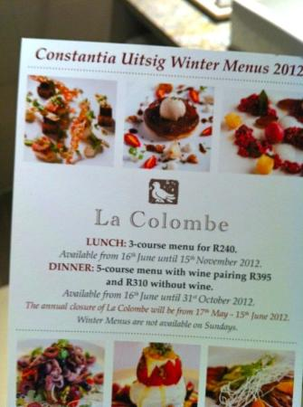 La Colombe : Tasting Menu