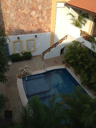 Hacienda Alemana: View from balcony