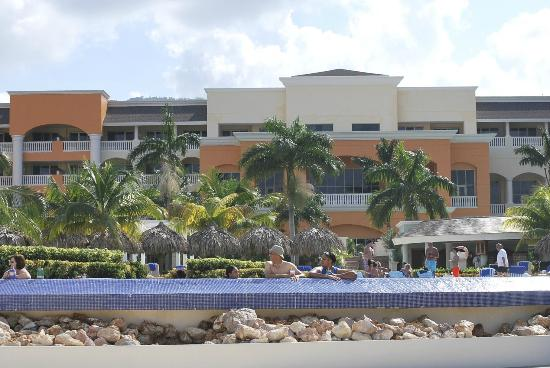 Iberostar Rose Hall Suites: View of resort from beach