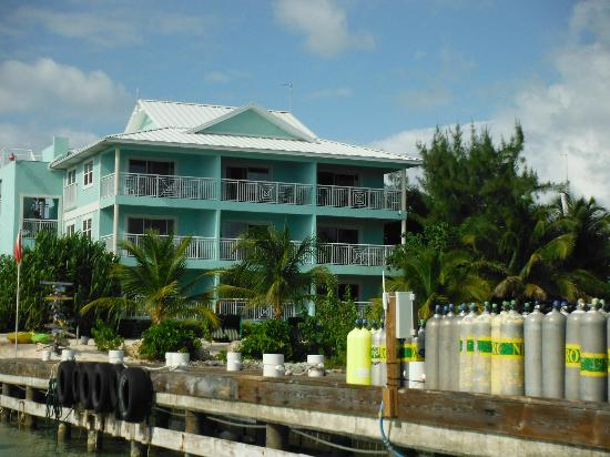 Compass Point Dive Resort: From the dock to our 3rd floor balcony