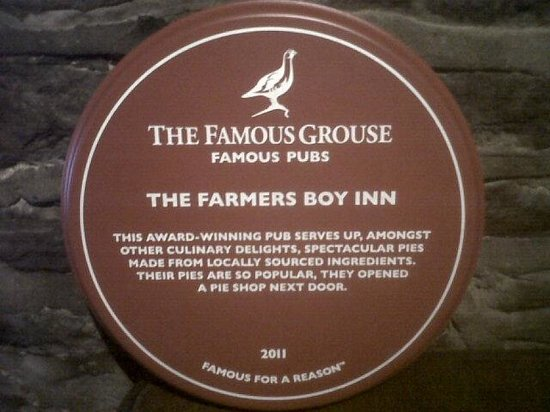 ‪‪The Farmers Boy Pub and Restaurant‬: The Famous Grouse award‬