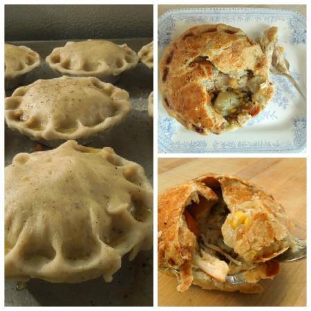 Jamie's chicken pot pies