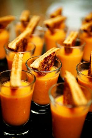 Jamie Hollander Gourmet Foods : catered tomato soup and grilled cheese
