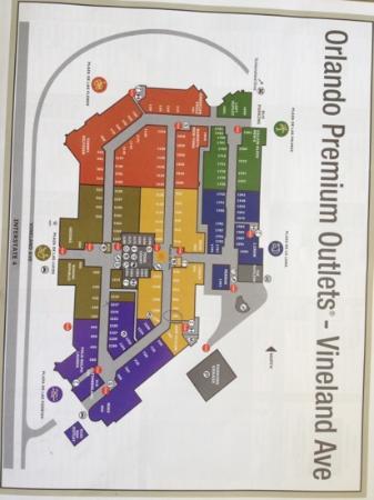 Orlando Premium Outlets - Vineland Avenue: mapa das lojas