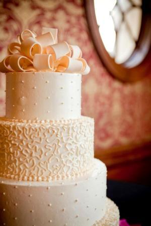 catered wedding cake