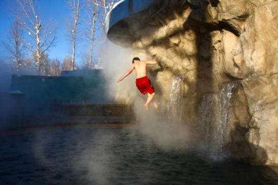 Old Town Hot Springs: Aquatic Climbing Wall Photo courtesy Corey Kopischke.