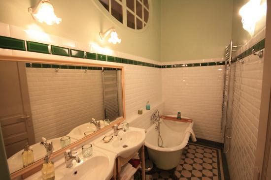 Abbaye de Reigny: Salle de bain chambre Westminster
