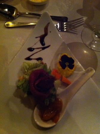 Woodall Country House and Spa: Carpaccio vom Springbock