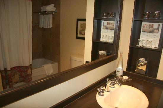 Le St Martin Bromont: classic and junior suite bathroom