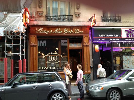 Outside Harry's New York Bar