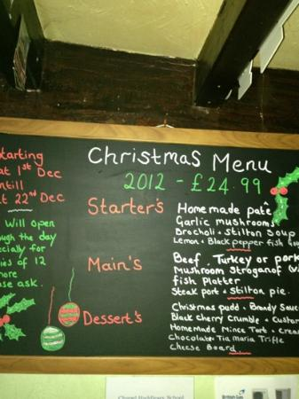 The George and Dragon: lovely Xmas menu