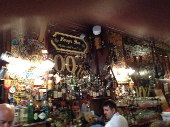 Behind bar, Harry's New York Bar