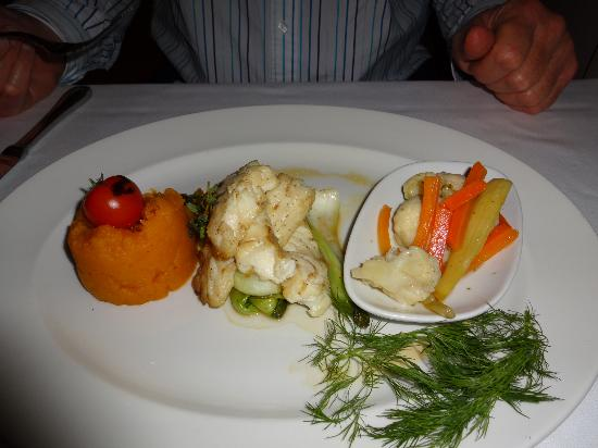 Ajia Hotel: Grouper with mashed pumpkin