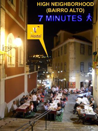 Vistas de Lisboa Hostel : Albuquerque Lisboa Baixa Chiado Bairro Alto Praça da Figueira Rossio